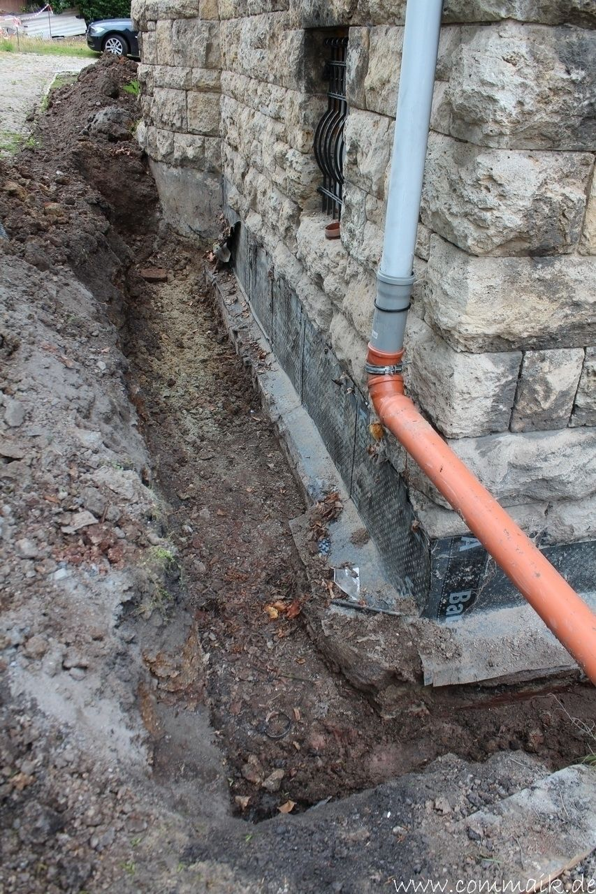 Hervorragend Trockenlegung des Hauses – Freilegen des Kellerfundaments, Mit den PD22