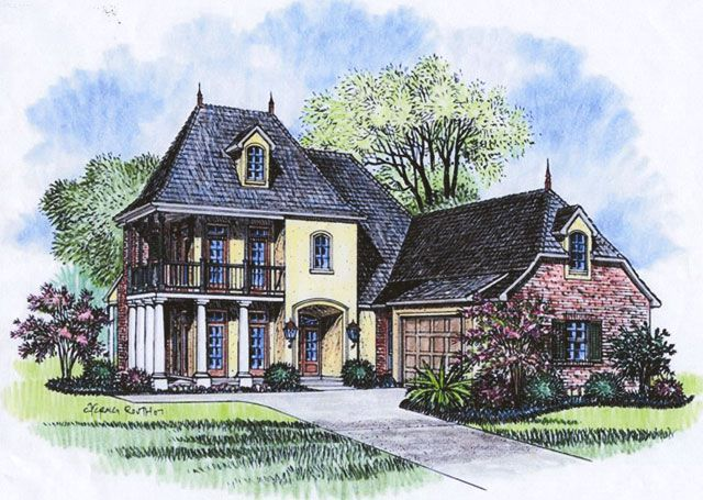 French Country Louisiana House Plans Acadiana Home Design