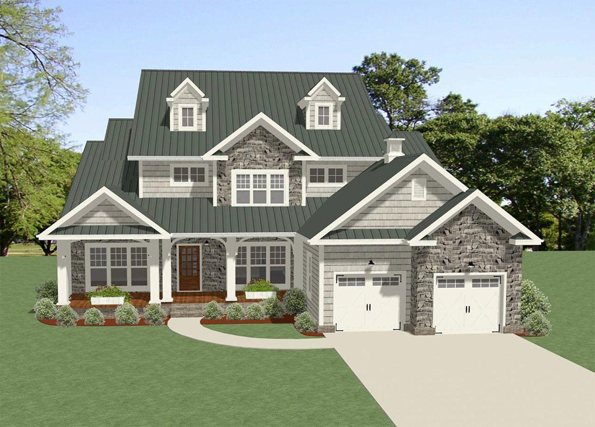 Photo of Plan 46303LA: Traditional House Plan with Terrific Storage