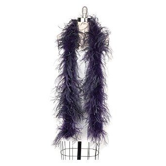Amazon.com: Zucker Feather Products Ostrich 2-Ply Boa for Decoration, Plum: Clothing
