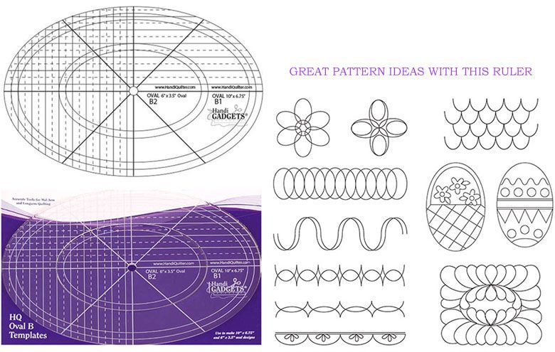 Hq Oval B Templates 10 Inch 6 Inch 1set Use To Make 10inch X