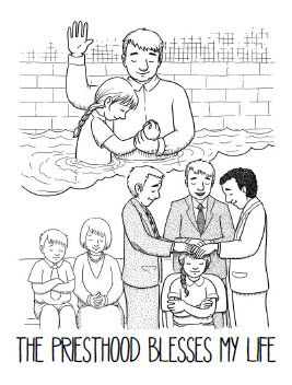 June Week 1 Coloring Page: The priesthood blesses my life