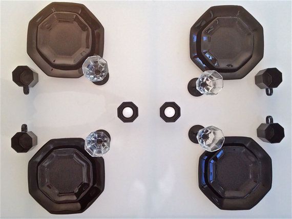 Arcoroc Octime black dinner set for 4 (18 pieces): Plates, Mugs ...