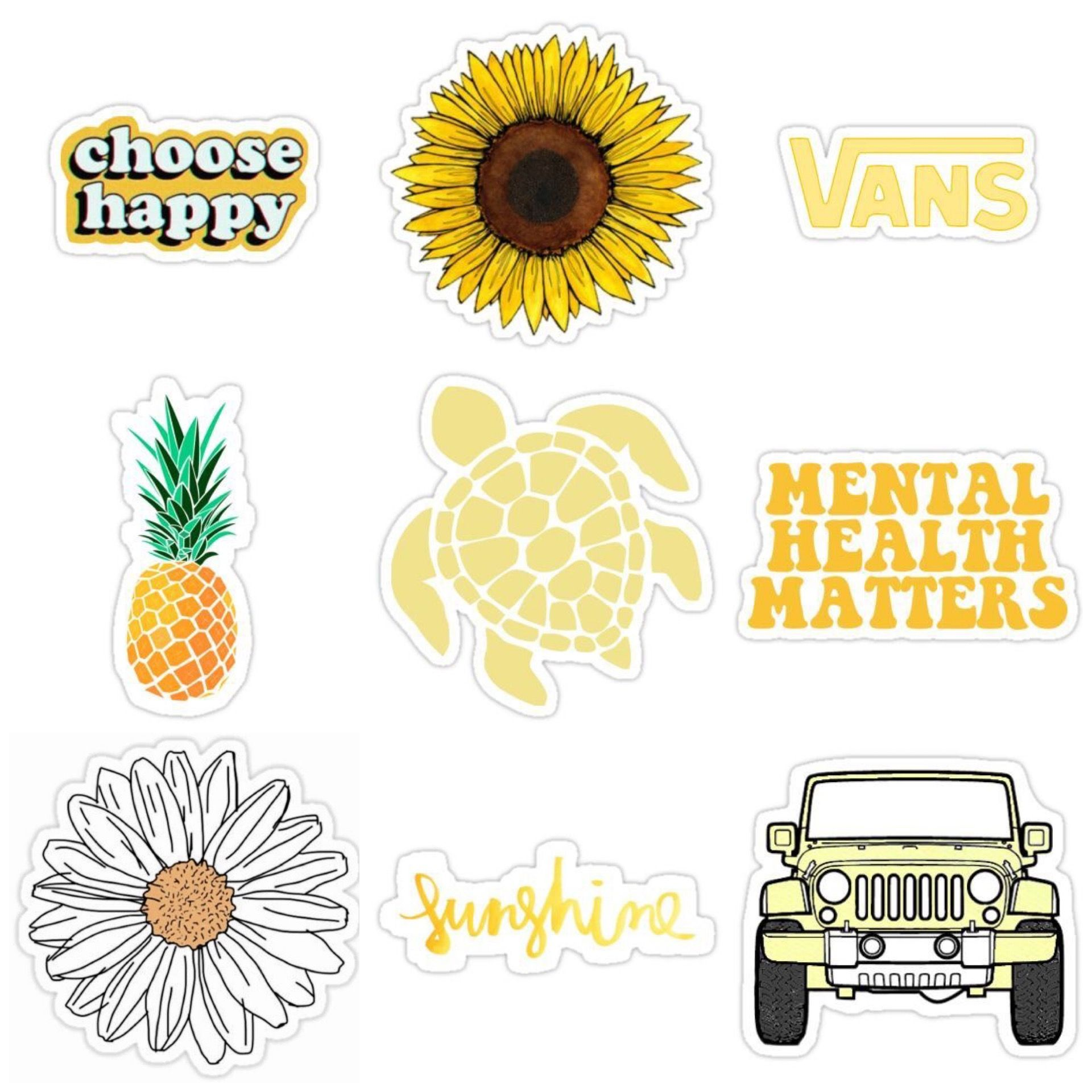 Yellow Sunny Honey Stickers Aesthetic Stickers Iphone