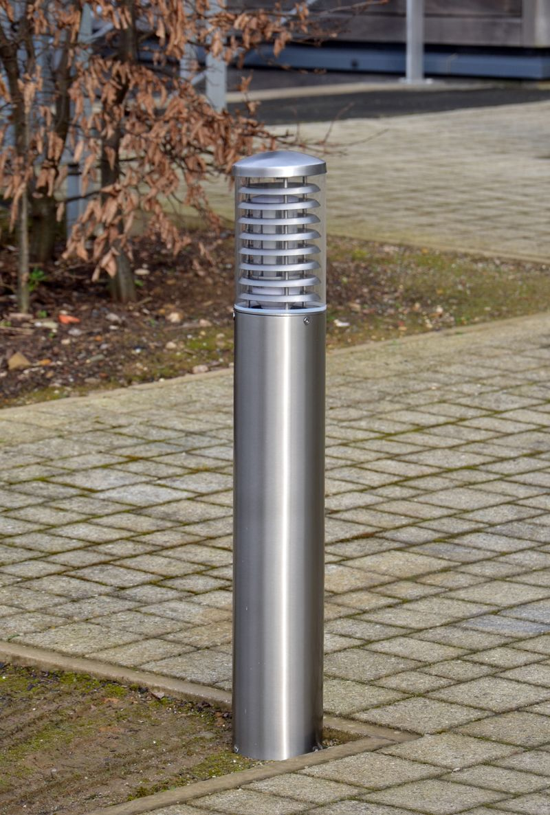 The Stelled LED bollard light is available with a