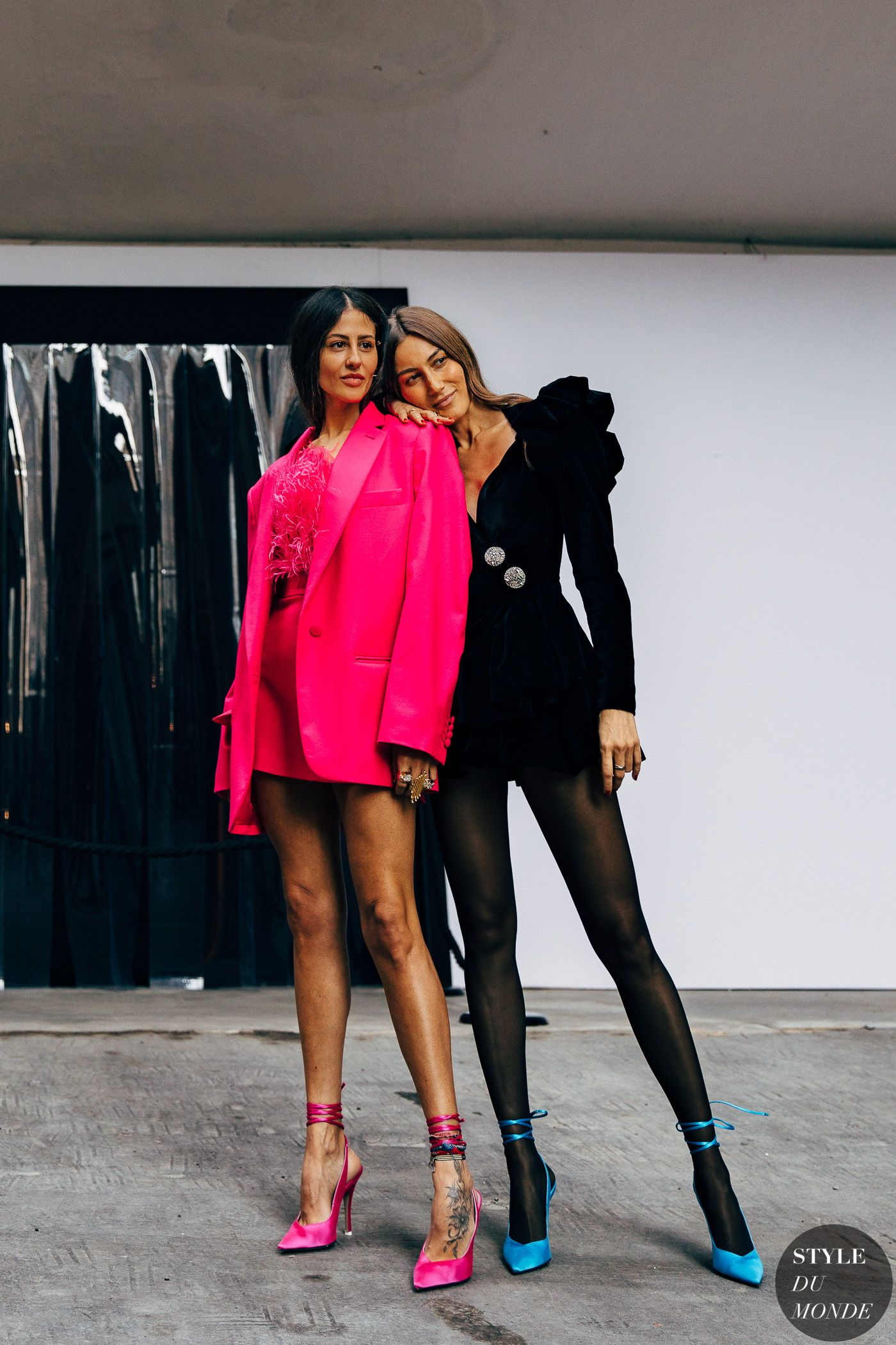 Milan FW 2019 Street Style: Gilda Ambrosio and Giorgia Tordini