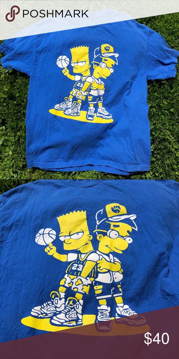 Bootleg Bart Simpson Milhouse Basketball T Shirt Bootleg Bart Bart Simpson Bootleg