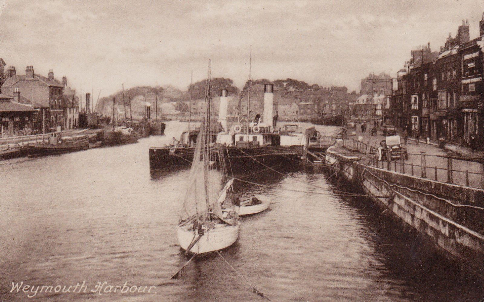 http://picclick.ie/Weymouth-Harbour-Dorset-Postcard-1922 ...