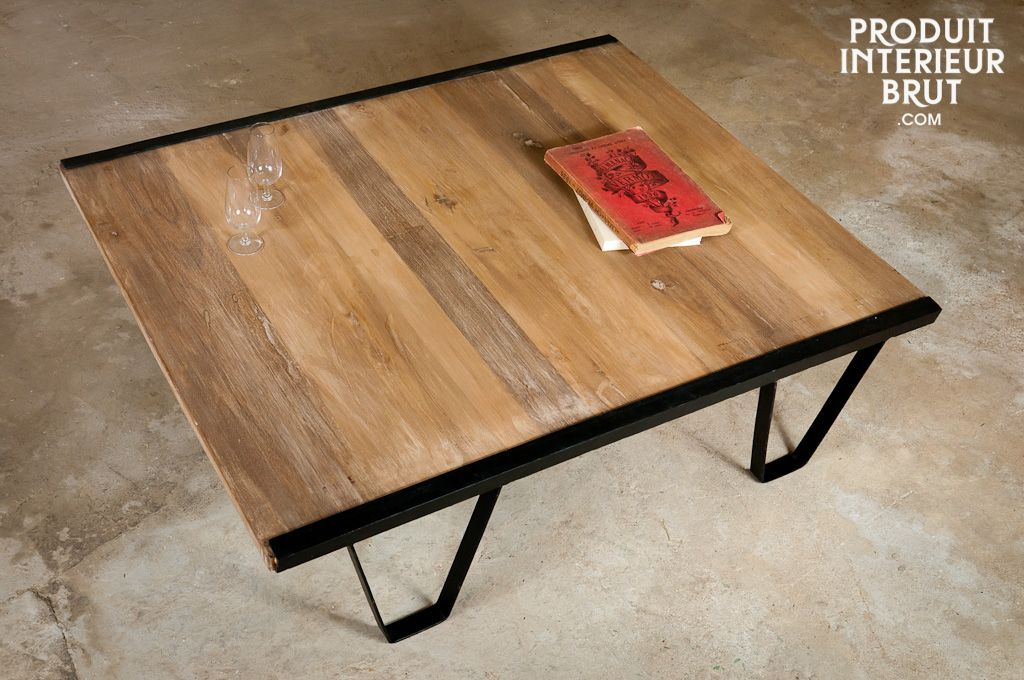 table basse en bois de teck cette table basse de salon sublimera votre int rieur et lui. Black Bedroom Furniture Sets. Home Design Ideas