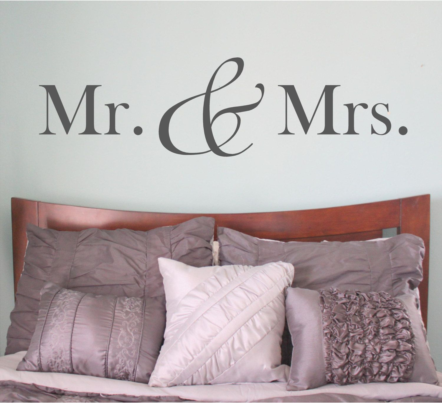 Mr And Mrs Mr And Mrs Sign Mr And Mrs Wall Decal Bedroom Etsy