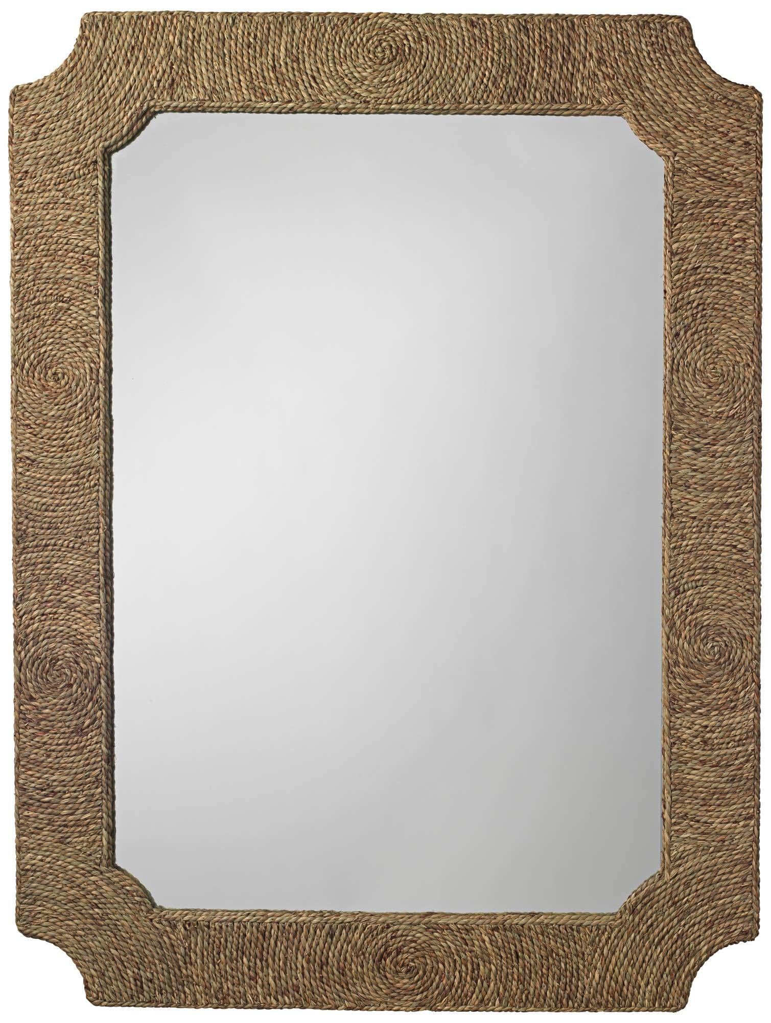 Jamie Young Marina Seagrass 36 X 48 Wall Mirror 19t85 Lamps Plus Mirror Wall Mirror Crafts Mirror 36 x 48 framed mirror