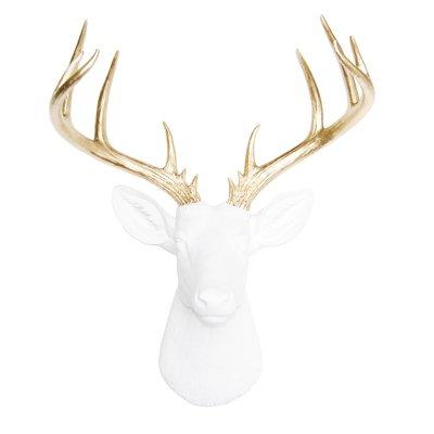 Brayden Studio Large Deer Head Faux Taxidermy Wall Décor Color ...