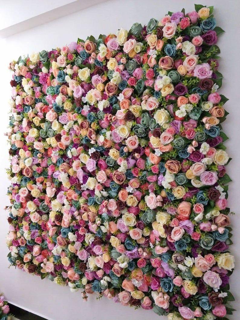 Flower wall Wedding backdrop Blush flower wall Photography backdrop Wedding flower wall Floral wall Flower backdrop Flower wall panel