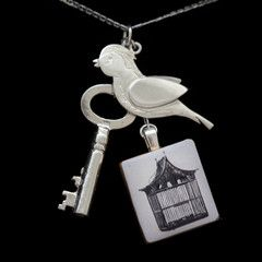 Fly Away Peter - Designer Story Necklace