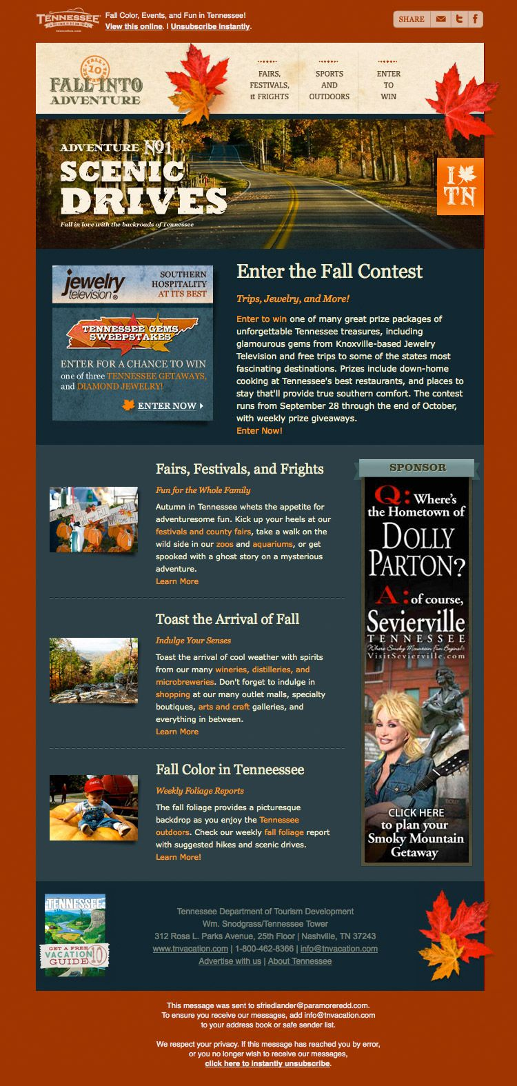 NewsletterTennesseefall  Comm Team Ideas    Email Design