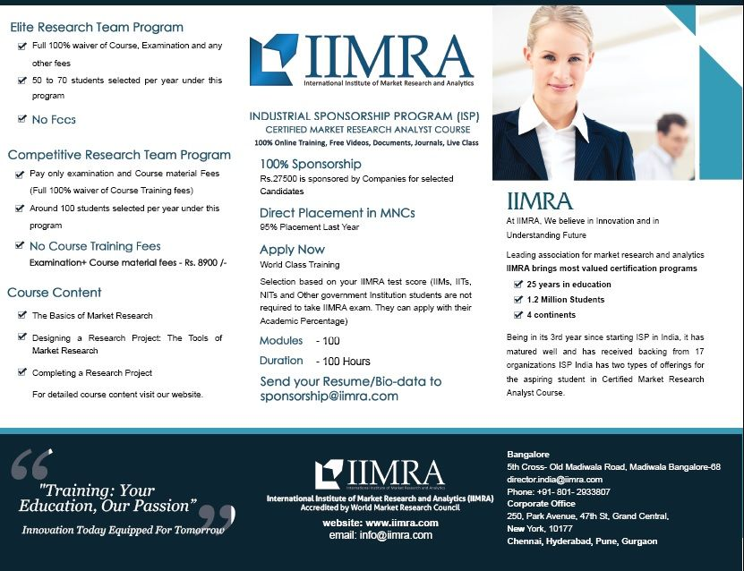 International Institute of Market Research and Analytics (IIMRA - market research