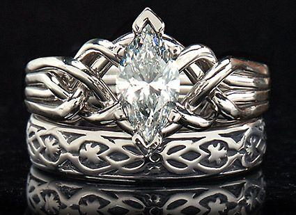 Celtic puzzle ring marquise diamond Marquise diamond puzzle