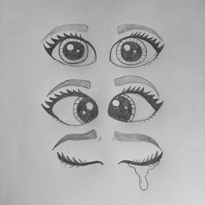 Stap voor stap: catoon ogen tekenen. - #catoon #ogen #Stap #tekenen #voor