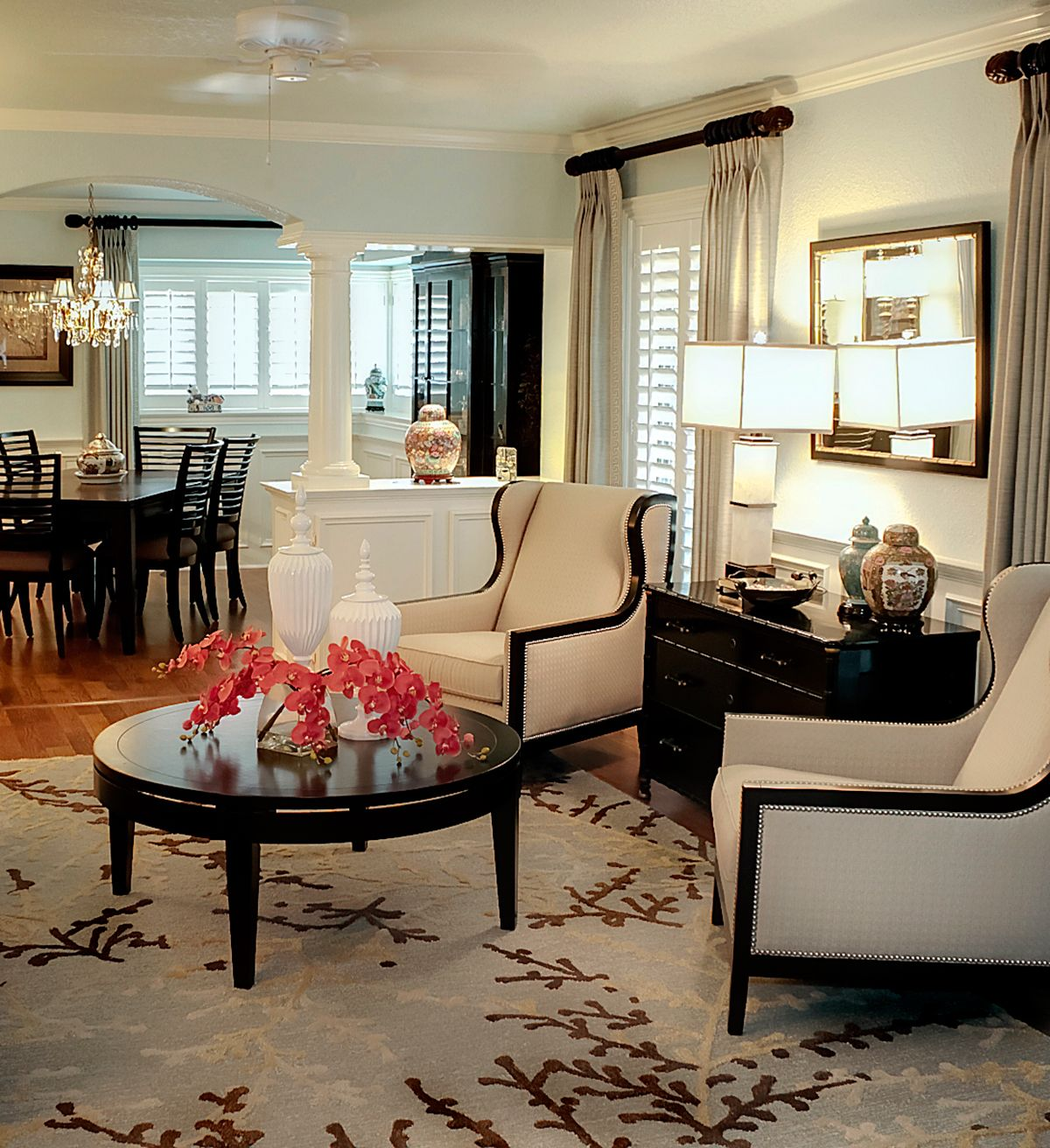 Living room and interior design by mary strong from star for Interior design houston