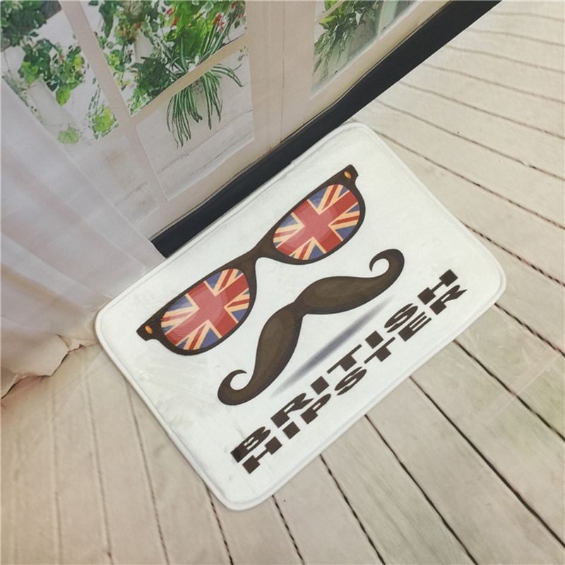 British Style Door Mat Coral Fleece Floor Carpet Antislip Kitchen Custom Kitchen Rug Design Inspiration