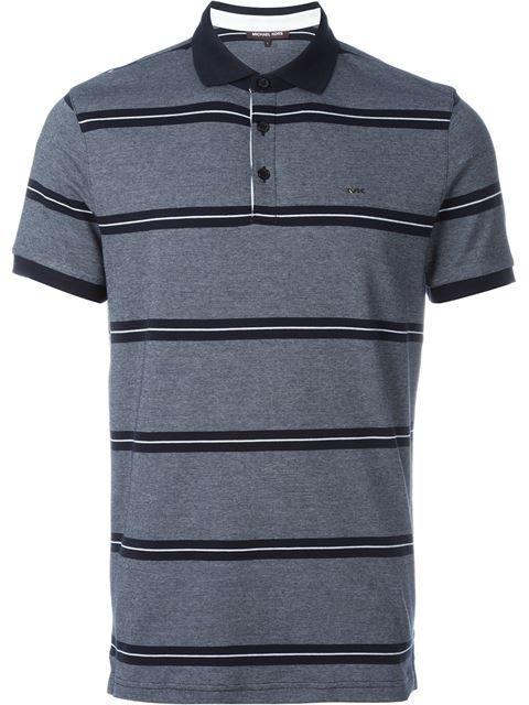 e679706a MICHAEL KORS Triple Striped Polo Shirt. #michaelkors #cloth #shirt Mens  Designer Polo