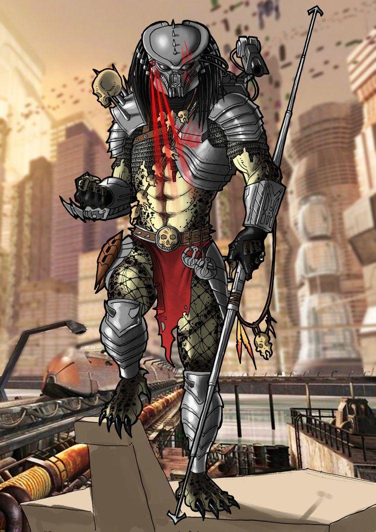 Alien vs. Predator: Wolf Predator Helm, Fertig-Modell ... http ...
