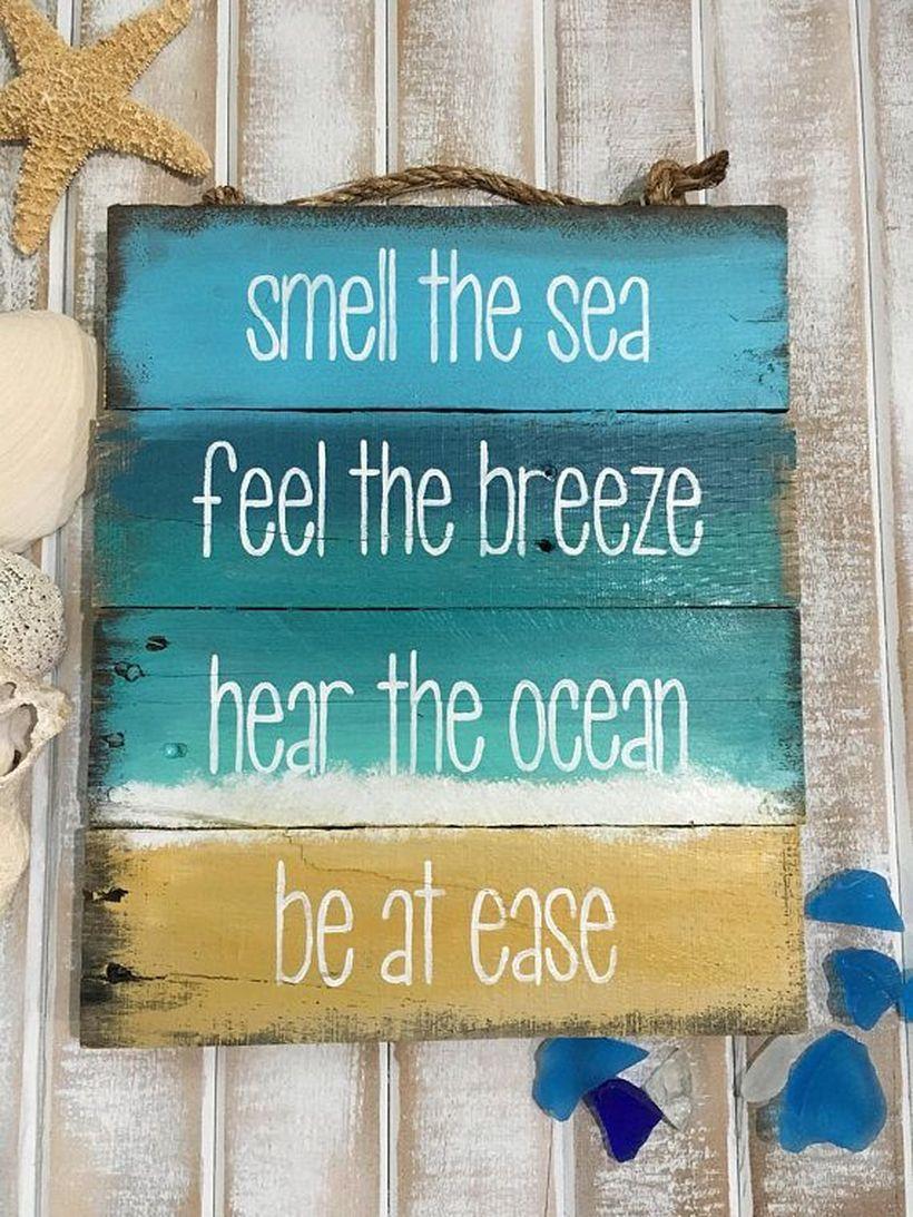 50 Enchanting Beach Themed Wooden Signs Ideas To Update Your Space Beach Theme Decor Beach Bathroom Decor Beach Wood Signs