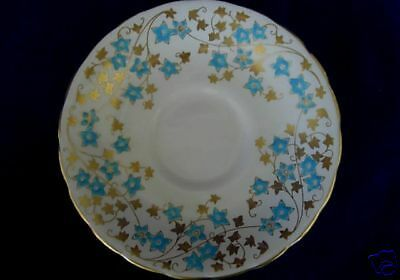 Details about ROYAL CHELSEA Turquoise Daisy Bone China Plate- England #plateracks