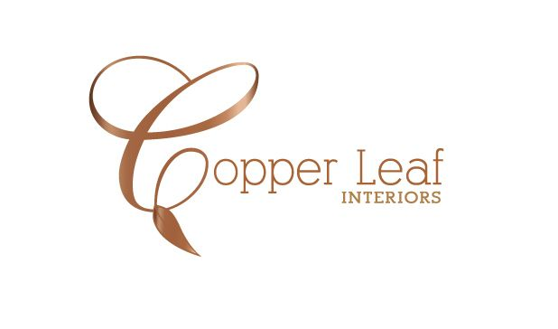 Copper Leaf Interiors Logo Design Bend Oregon Jelliefish