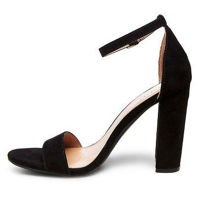 9aac0aec0de Women's Lulu Block Heel Sandals Merona - Black 10   Products   Black ...
