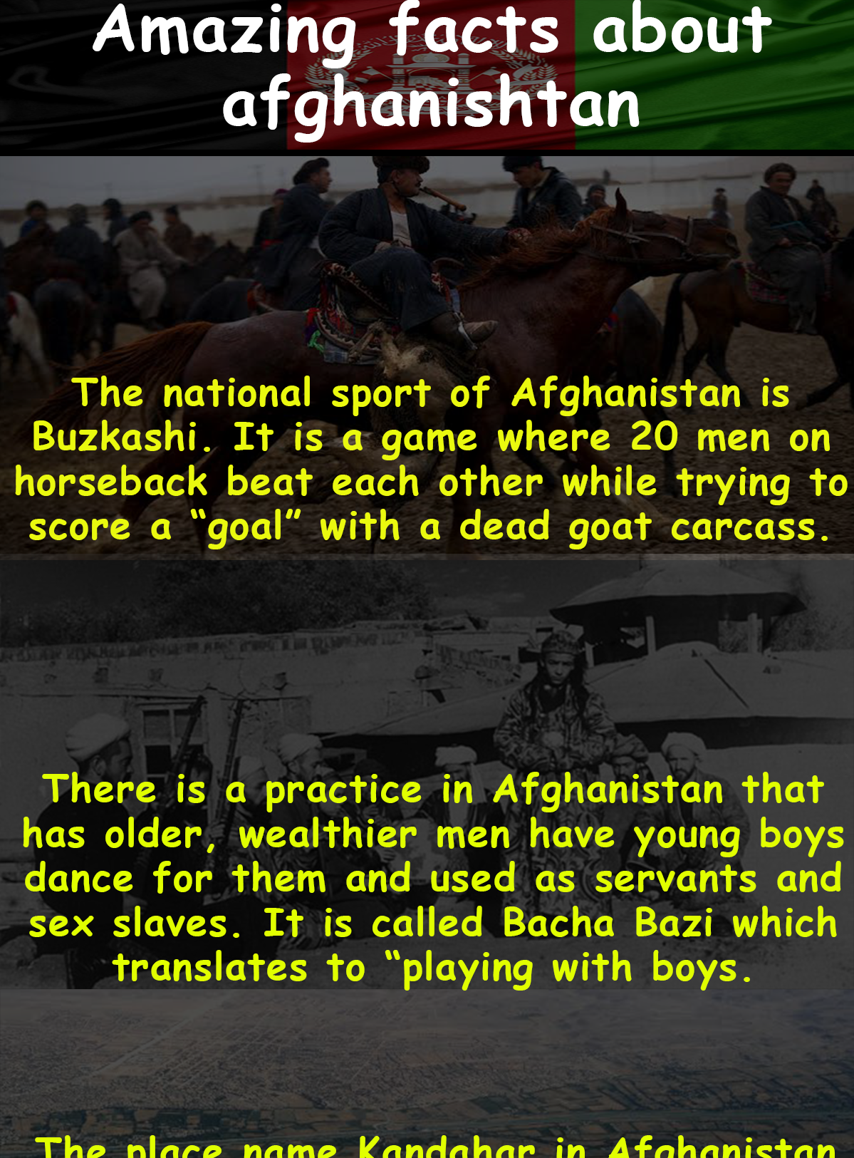 Amazing facts about Afghanistan Amazing facts about Afghanistan
