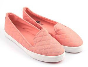 Trampki Slip On Quilted Pink