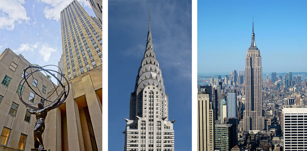 Three famous art deco buildings in New York City. http://blog.deco ...