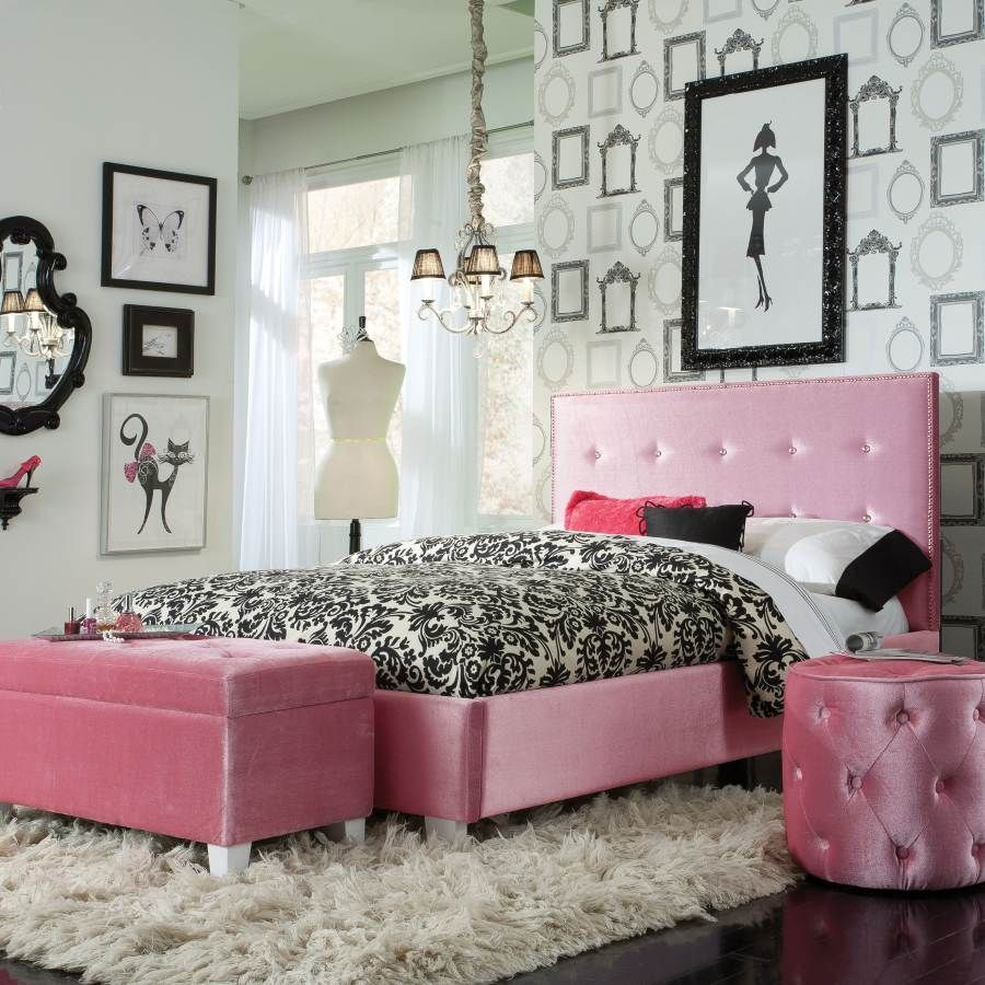 Young Parisian Pink Full Upholster Bed