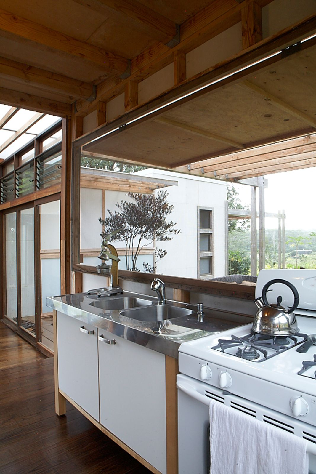 A hawaiia home is a grouping of pods kitchen design