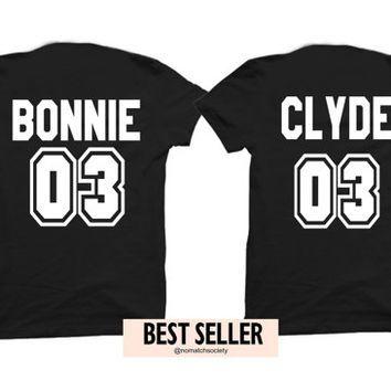 dbfe521ba8 Bonnie clyde shirts, couples shirts, boyfriend girlfriend shirts, king  queen shirts, bonnie clyde shirts, tumblr shirt