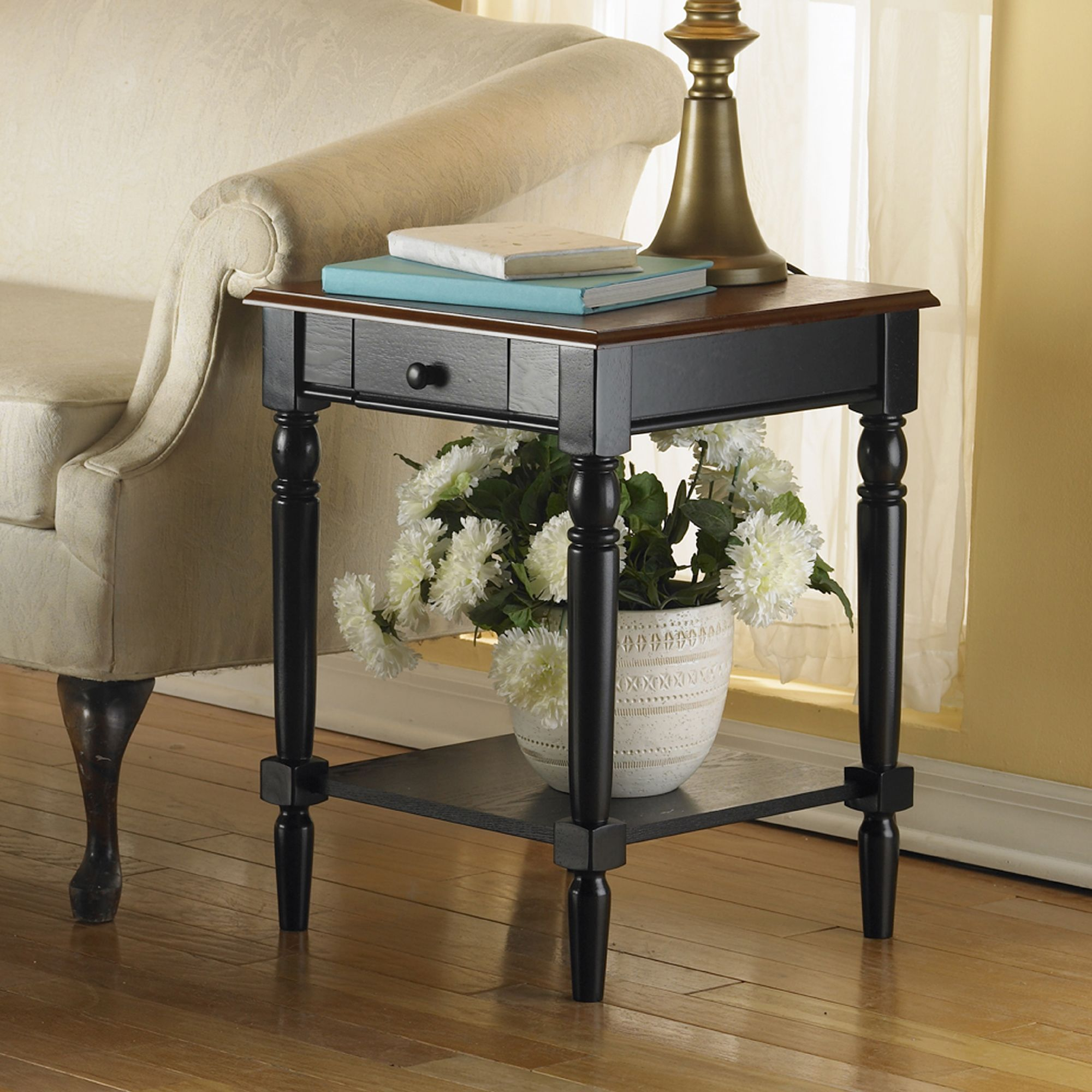 Best Convenience Concepts French Country End Table With Drawer 400 x 300