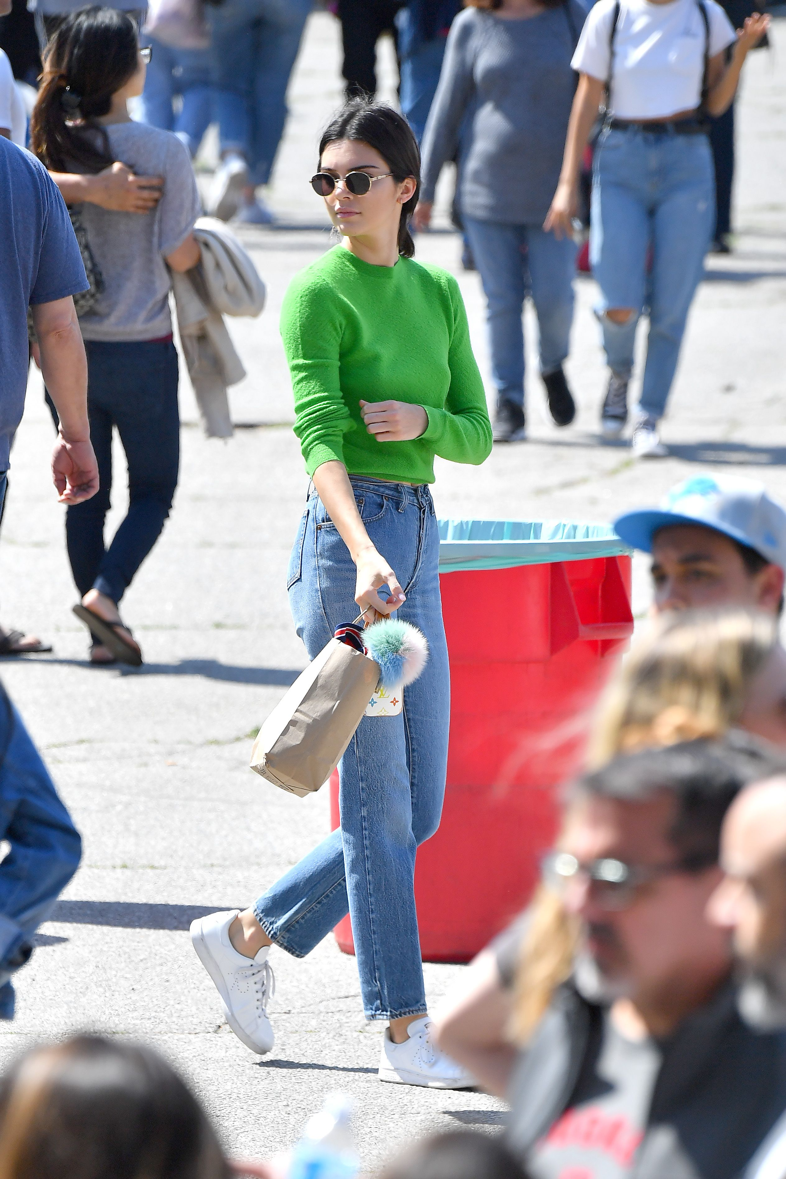 9be0e74ac91f Kendall Jenner in Adidas x Raf Simons Stan Smith Sneakers