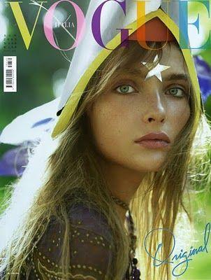 Snejana Onopka by Steven Meisel, Vogue Italia.