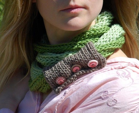 RESERVED. spring greens . ooak wearable art by EarthenPurl on Etsy