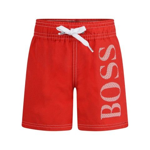 6cba5de468dac BOSS Baby Boys Red Quick Dry Swim Shorts | Boss SS17 | Boss baby ...