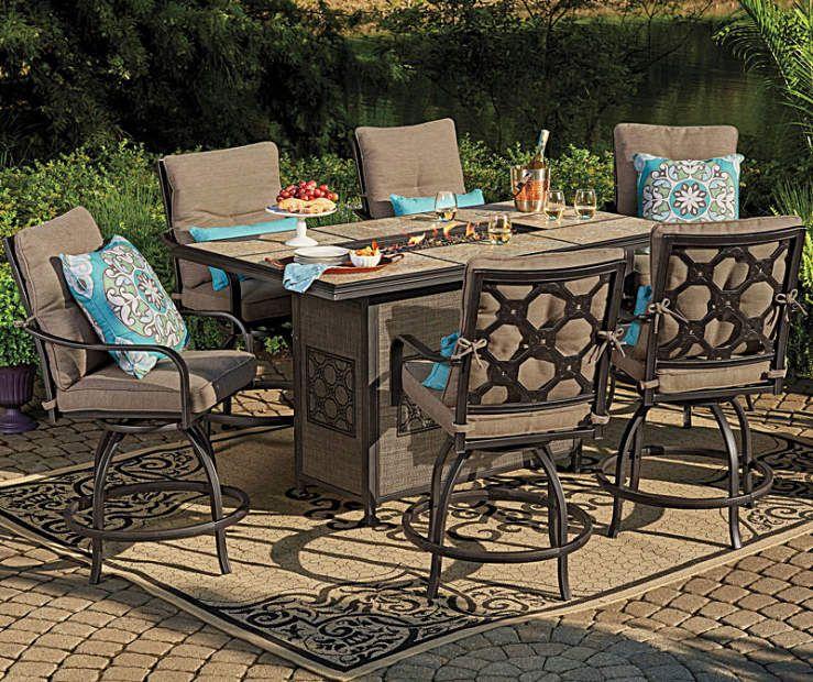 wilson  fisher stoneridge high top patio dining