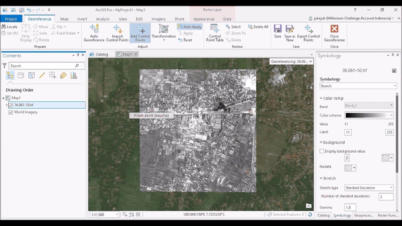 Image to Image Georeferencing in ArcGIS Pro ( for Aerial
