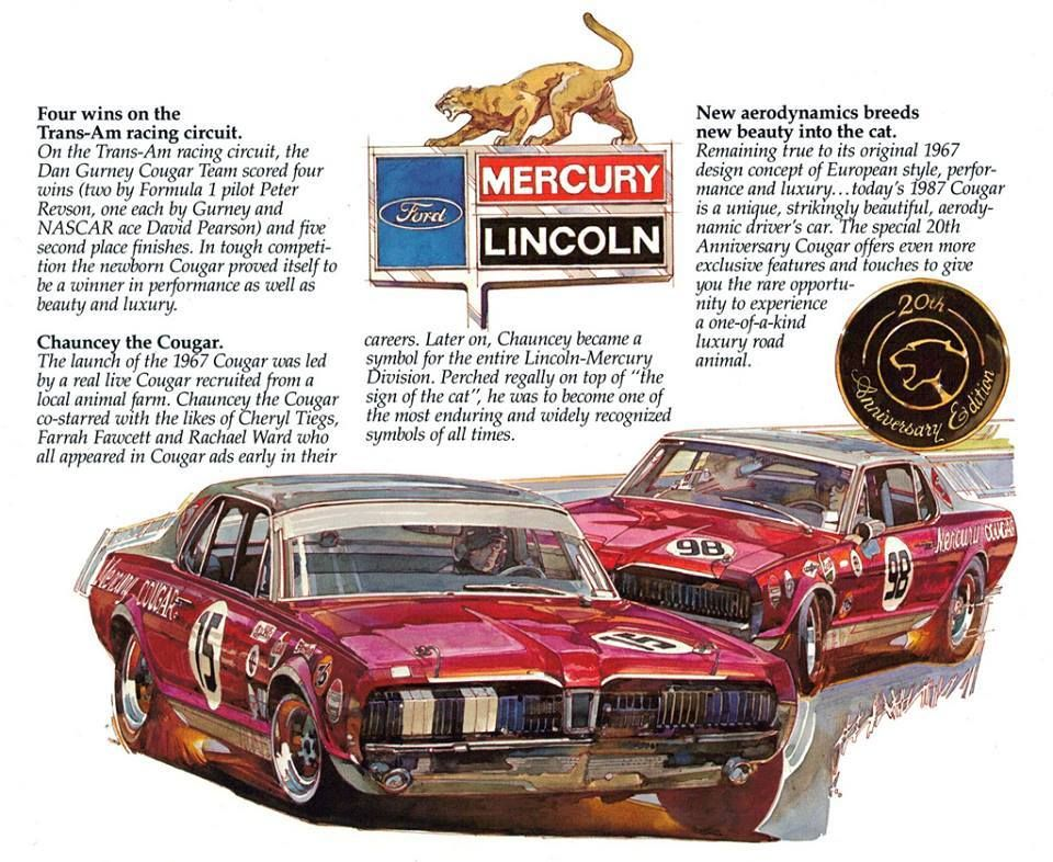 Mercury Cougar In Bud Moore Trans Am Livery Muscle And Sport Cars