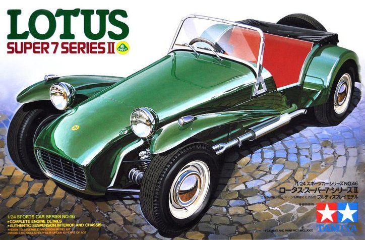 lotus super 7 series ii plastic model kit metal cars i. Black Bedroom Furniture Sets. Home Design Ideas