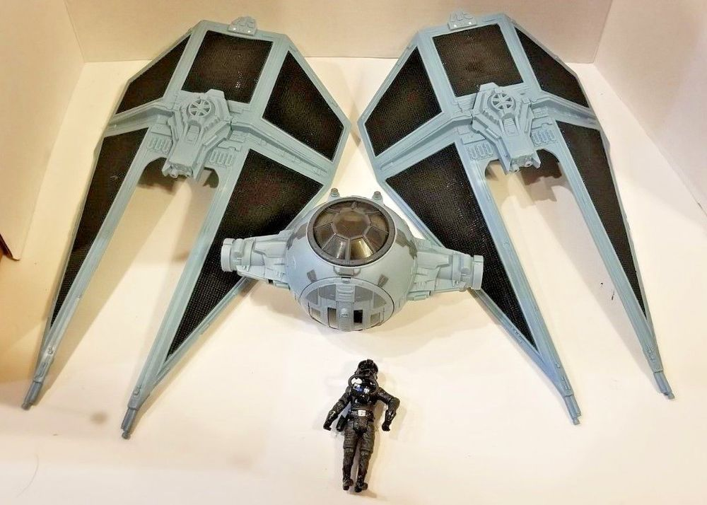 Display stand for Vintage Star Wars Darth Vader Tie Fighter Very Nice!