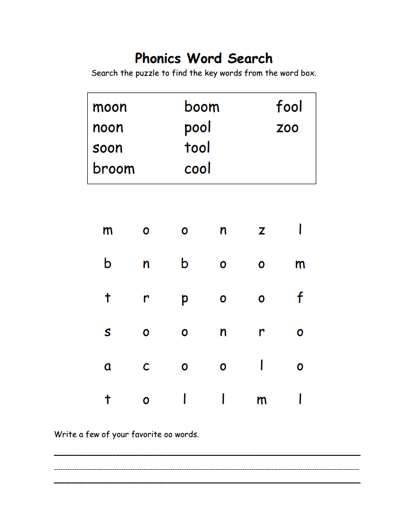 Workbooks vowels worksheets pdf : Free PDF Phonics Words Search from www.itsrainingitspouring.org ...