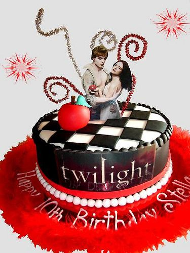 Remarkable How To Make A Twilight Birthday Cake Twilight Cake Twilight Cake Funny Birthday Cards Online Overcheapnameinfo