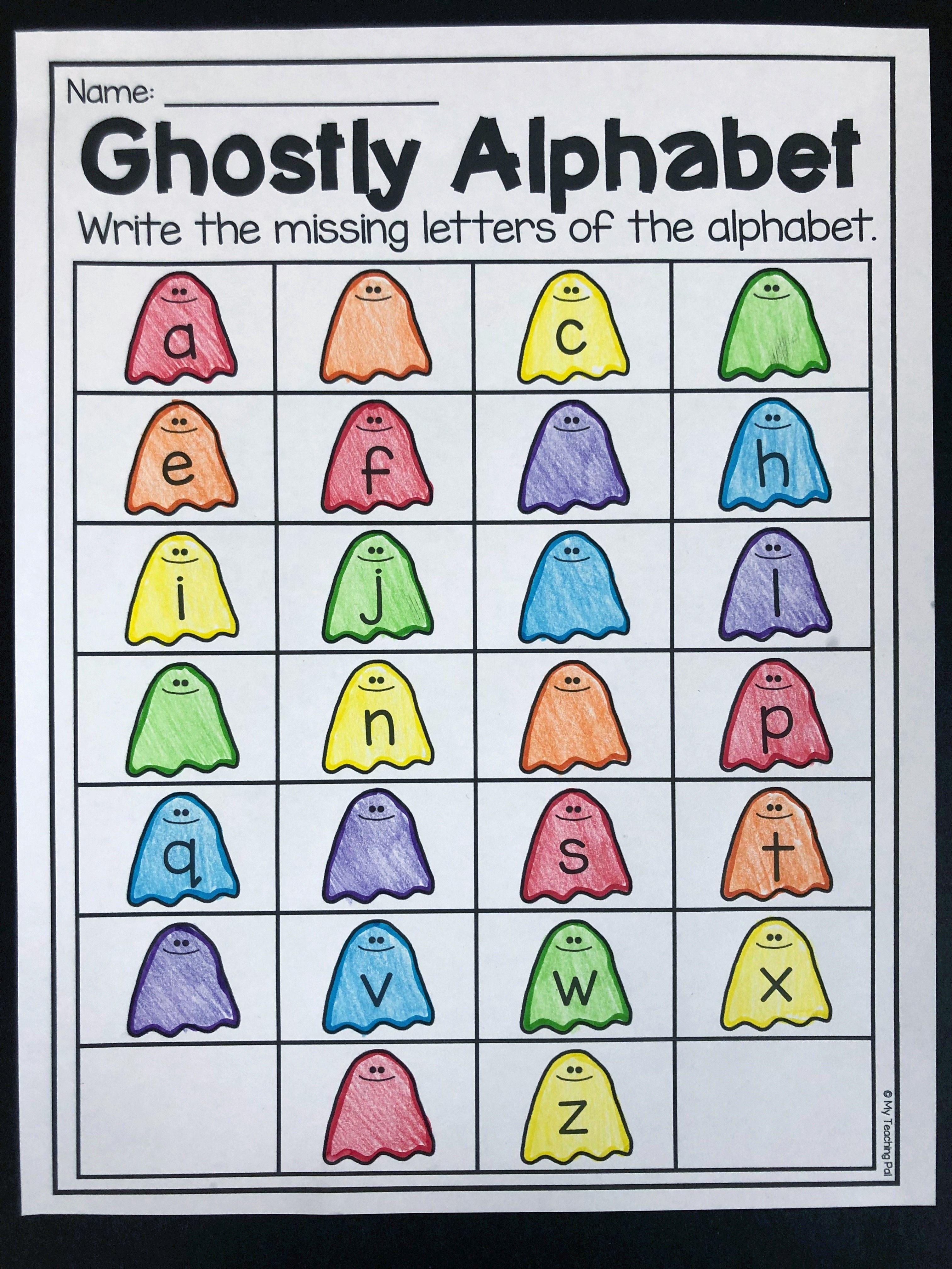 Halloween Alphabet Worksheet For Kindergarten Students Fill In The Missing Letter Halloween Worksheets Halloween Kindergarten Alphabet Worksheets Kindergarten [ 4031 x 3024 Pixel ]