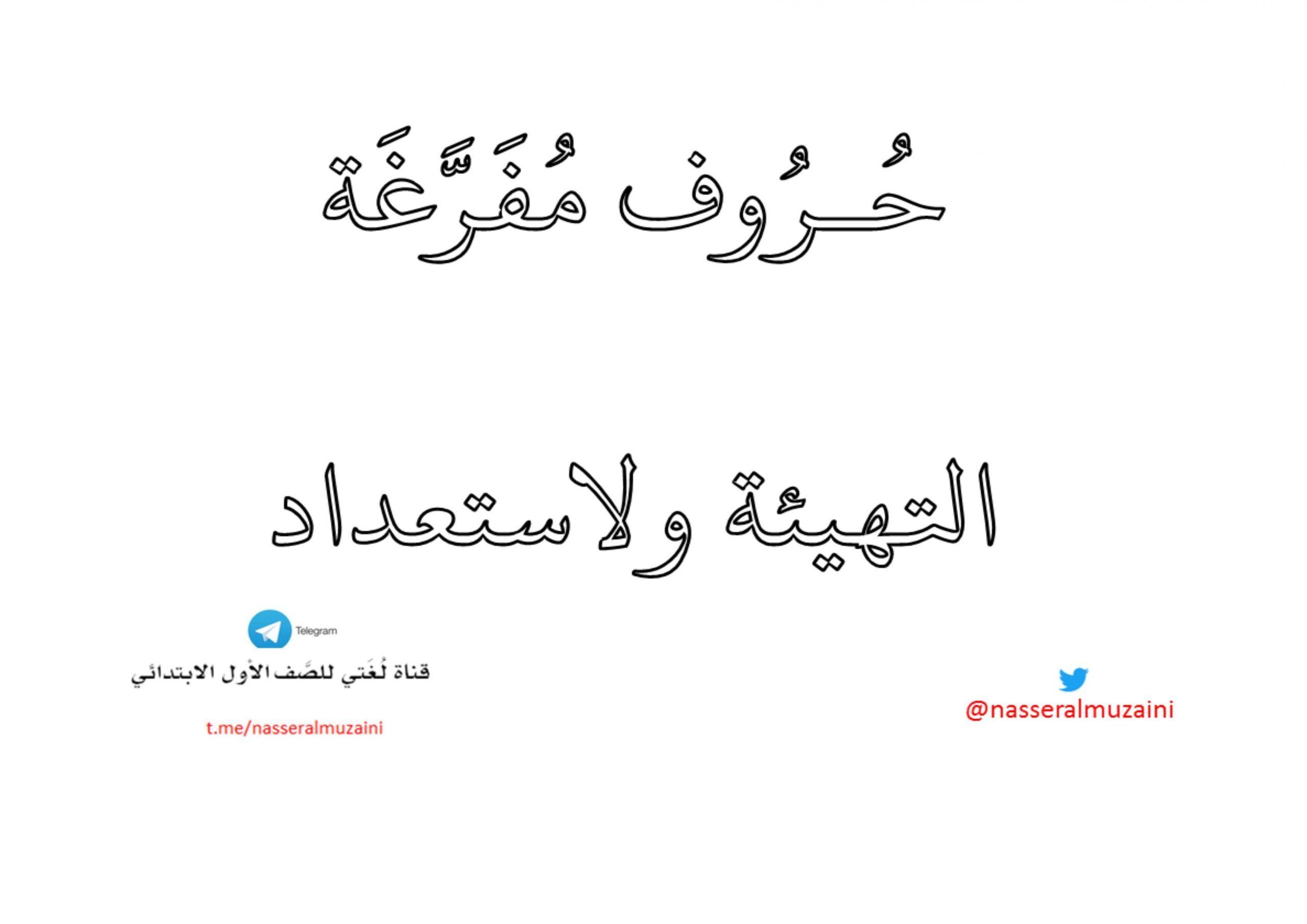 للتهيئة والاستعداد حروف مفرغة مع الحركات القصيرة Teach Arabic Teaching Arabic Calligraphy